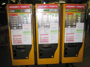 Vending machine for tickets